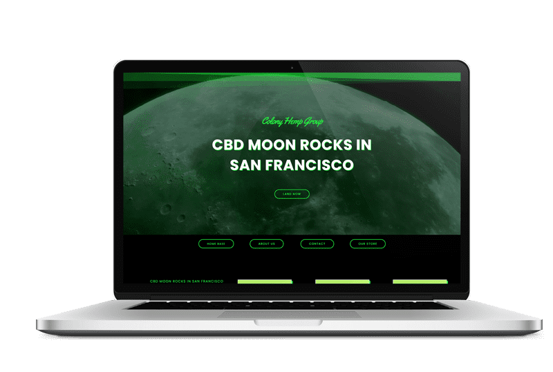 CBD Moon Rocks Website Design by Live Web Design in [location]