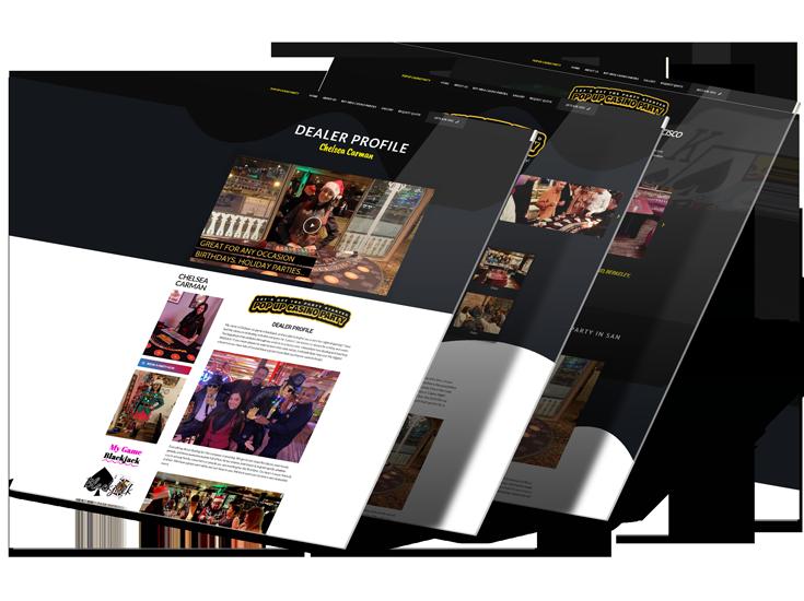 Live Web Design Pop Up Casino Mockup