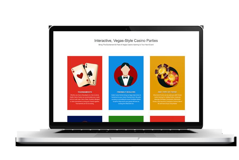 21 Fun Casino Party Website Design in [location] by Live Web Design