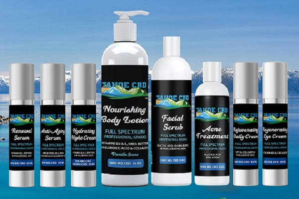 Tahoe CBD Skincare Live Web Design [location]