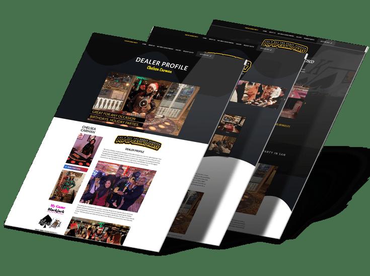 Pop Up Casino Party & Live Web Design
